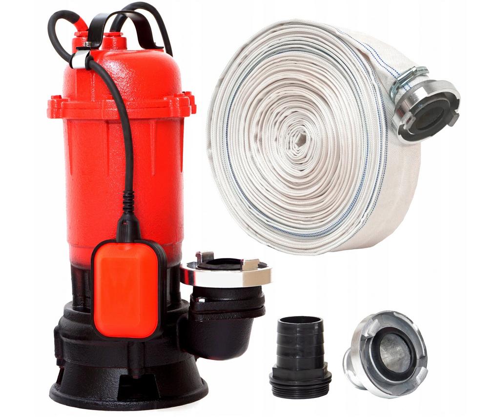 Pompa do wody brudnej/czystej  wydajność do 10 000 l/h, z wężem 30m